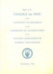 Report of the College for Men of the University of San Diego to the Committee on Accreditation of the Western Association of Schools and Colleges - November 1966