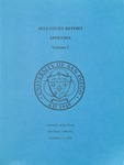 Self-Study Report Appendix Volume 1 2000 by University of San Diego