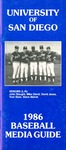 University of San Diego Baseball Media Guide 1986 by University of San Diego Athletics Department