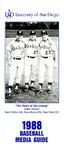 University of San Diego Baseball Media Guide 1988 by University of San Diego Athletics Department