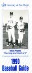 University of San Diego Baseball Media Guide 1990 by University of San Diego Athletics Department