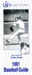 University of San Diego Baseball Media Guide 1991 by University of San Diego Athletics Department