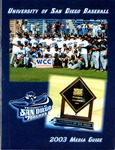 University of San Diego Baseball Media Guide 2003