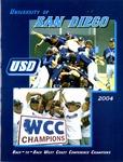 University of San Diego Baseball Media Guide 2004 by University of San Diego Athletics Department
