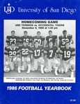 University of San Diego Football Media Guide 1986
