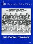 University of San Diego Football Media Guide 1986 by University of San Diego Athletics Department