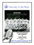 University of San Diego Football Media Guide 1987