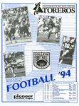 University of San Diego Football Media Guide 1994 by University of San Diego Athletics Department