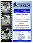 University of San Diego Football Media Guide 1995