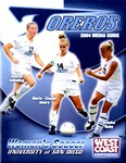 University of San Diego Women's Soccer Media Guide 2004
