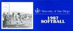University of San Diego Softball Media Guide 1987