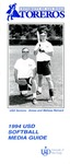 University of San Diego Softball Media Guide 1994 by University of San Diego Athletics Department