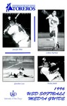 University of San Diego Softball Media Guide 1996