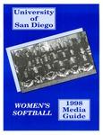 University of San Diego Softball Media Guide 1998 by University of San Diego Athletics Department