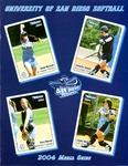 University of San Diego Softball Media Guide 2004 by University of San Diego Athletics Department
