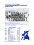 University of San Diego Swimming & Diving Media Guide 1993-1994 by University of San Diego Athletics Department