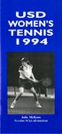 University of San Diego Women's Tennis Media Guide 1993-1994 by University of San Diego Athletics Department