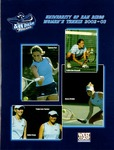 University of San Diego Women's Tennis Media Guide 2002-2003 by University of San Diego Athletics Department