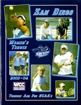 University of San Diego Women's Tennis Media Guide 2003-2004 by University of San Diego Athletics Department