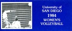 University of San Diego Volleyball Media Guide 1984 by University of San Diego Athletics Department