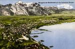 Bregenz am Bodensee mit den Schweizer Bergen
