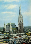 Wien - Blick vom Hochhaus auf St. Stephan