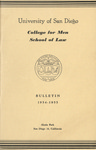 University of San Diego College for Men Bulletin 1954-1955