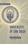 Bulletin of the University of San Diego College for Men 1957-1958