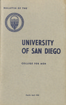 Bulletin of the University of San Diego College for Men Reprint April, 1959 by University of San Diego. College for Men