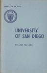 Bulletin of the University of San Diego College for Men 1959-1960 by University of San Diego. College for Men