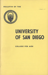 Bulletin of the University of San Diego College for Men 1960-1961