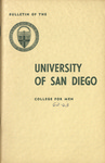 Bulletin of the University of San Diego College for Men 1962-1963
