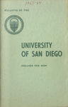 Bulletin of the University of San Diego College for Men 1963-1964
