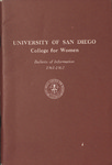 Bulletin of the San Diego College for Women 1961-1962 by San Diego College for Women