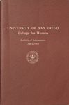 Bulletin of the San Diego College for Women 1963-1964