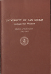 Bulletin of the San Diego College for Women 1962-1963
