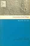 Bulletin of the University of San Diego Graduate Division 1971-1972 by University of San Diego