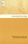 Bulletin of the University of San Diego Graduate Division 1973-1974 by University of San Diego