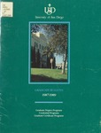 Bulletin of the University of San Diego Graduate Division 1987-1989 by University of San Diego