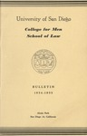 Bulletin of the University of San Diego School of Law 1954-1955