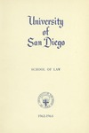 Bulletin of the University of San Diego School of Law 1963-1964