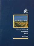 Bulletin of the University of San Diego School of Law 1983-1985 by University of San Diego. School of Law