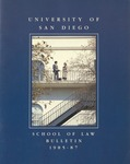Bulletin of the University of San Diego School of Law 1985-1987