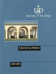 Bulletin of the University of San Diego School of Law 1989-1991