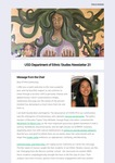USD Department of Ethnic Studies Newsletter 2:1 by Department of Ethnic Studies