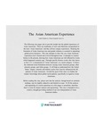 The Asian American Experience by Isabel Poljakovic, Oriana Sampath, and Ryan Cu