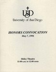 Guide to the Honors Convocation records by University of San Diego