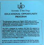 Guide to the Educational Opportunity Program records by University of San Diego