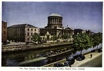 Dublin City, Ireland - The Four Courts, the Quays and River Liffey