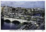 Ireland – Dublin – O'Connell Bridge – River Liffey – Bus Station